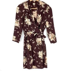 Aritzia Wilfred Burgundy Floral Dress - Size 2